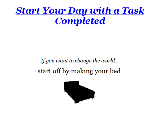 Screenshot-2018-5-15 Make Your Bed Little Things That Can Change Your Life And Maybe the World William H McRaven 9781455570[...]